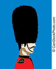 England Royal guard - Grand mustache England Royal guard