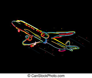 Funky airplane