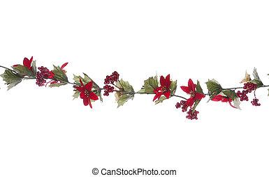 Christmas garland isolated - Christmas garland studio cut...