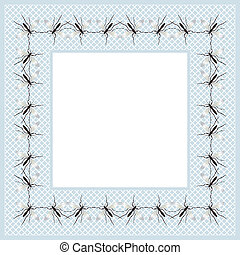 Mosquito frame - Decorative frame design with mosquitoes