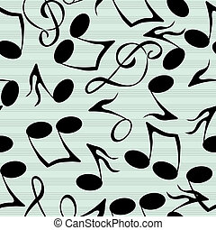 Musical notes pattern - Seamless pattern with stylized...