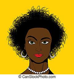 Pop Art style black girl