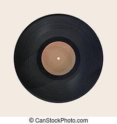 Realistic vintage record - Realistic vintage vinyl record...