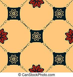 Seamless Art Nouveau tile - Art nouveau style background,...