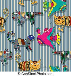 Seamless childlike drawing pattern - Seamless childlike...