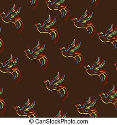 Stylish bird pattern