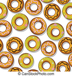 Tasty donuts pattern - Seamless pattern with tasty donuts.