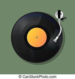 Turntable background, music icon design
