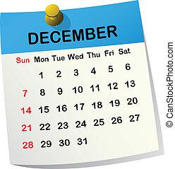2014 calendar for December - 2014 paper sheet calendar for...