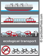 ekologiczny, przewóz, -, statek
