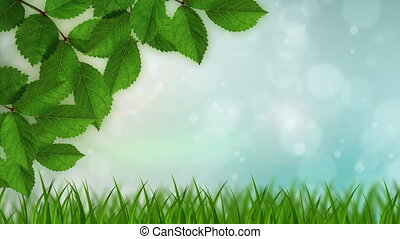 Nature Background - A nature background with animated bokeh...
