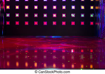 Disco with colorful lights