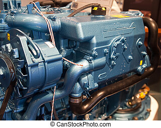 Car engine motor - Details of car truck engine motor