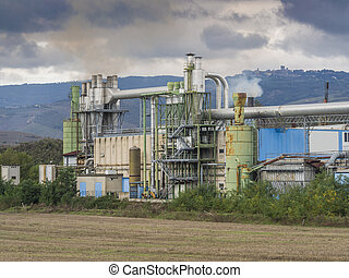 paper mill - factory production of paper products