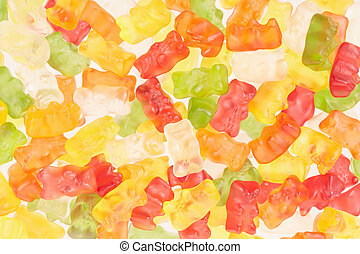 Gummy bears candies texture background - Gummy bears candies...