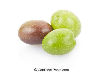Olives on white