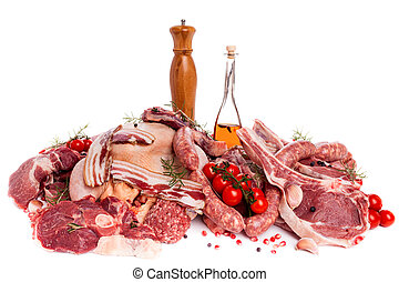 Meat Mix - Raw meat mix: steaks, poultry, sausages, ham,...