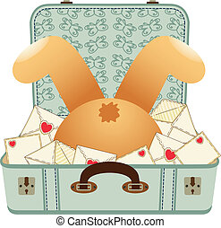 Teddy bear upside down - Scalable vectorial image...