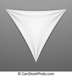 White stretched triangular shape