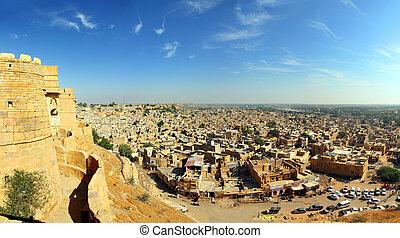 panorama of Jaisalmer city in india