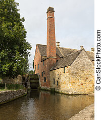 Old Mill in Cotswold district of England