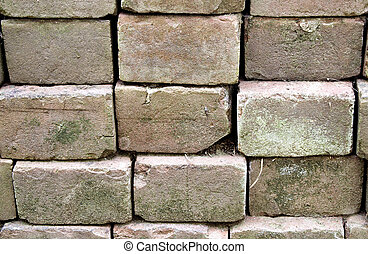 paver blocks - rows of concrete paver blocks for background...