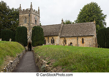 Old Church in Cotswold district of England - St Peters...