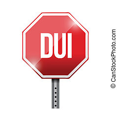 dui road sign illustration design over white