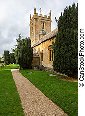 Old church in Cotswold district of England - Parish church...