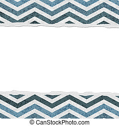 Blue Chevron Torn Background for your message or invitation