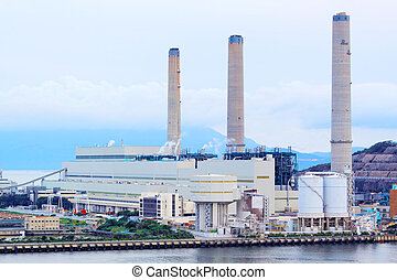 power station at day, hong kong