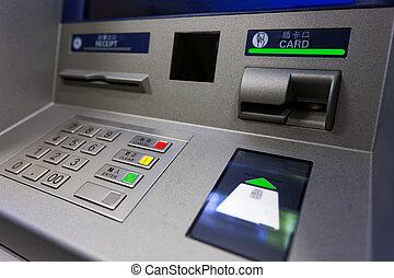ATM machine. Image include several clipping paths for easily...