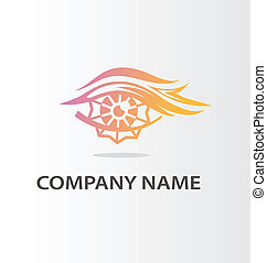 Decorative eye logo