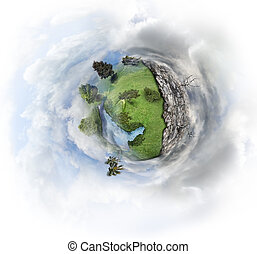 Nature Concept With Miniature Earth