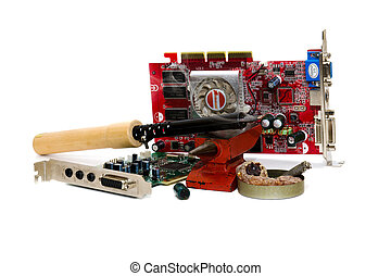 Repair of an electronic payment - soldering iron, rosin and...