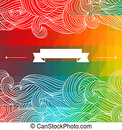 Card abstract geometric background