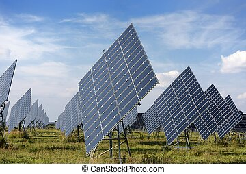 Solar Energy - Solar park with huge solar panels.