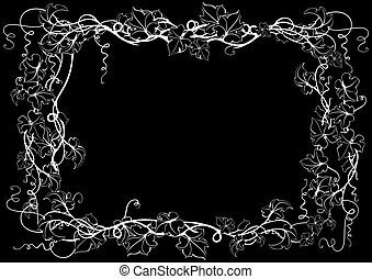 Abstract floral frame - Illustration of abstract floral...