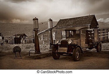 Bodie Gas Station - A ghost town gas station