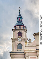 Church at Market Square in Ludwigsburg, Germany -...