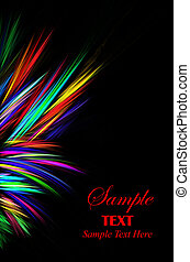 Bright Sparks - Vibrant bright sparks left border over black...