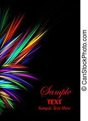 Bright Sparks - Vibrant bright sparks left border over black...