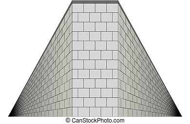 IsolatedPerspective - A wall with both sides going into...