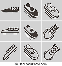 Bobsled icons - Bobsled icon