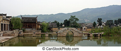 Ancient Chinese village - a view of ancient chinese village...