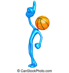 Number One Basketball - 3D Concept And Presentation Figure