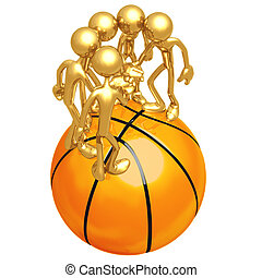 Basketball Team - 3D Concept And Presentation Figure