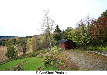 Storehouse in fall