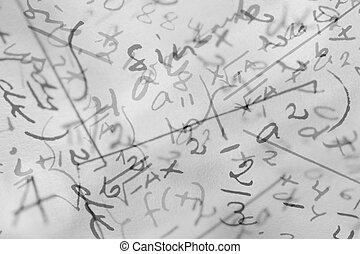 Mathematics - A photocomposition of handwritten mathematical...