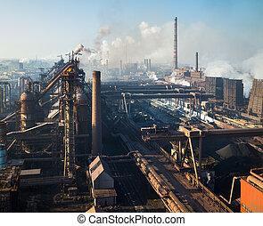 aço, trabalhos, ferro
